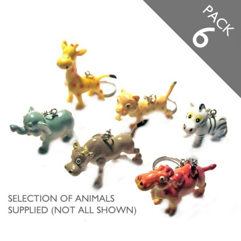 Animal Keyrings - PACK 6