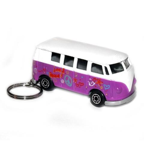 Camper Van Keyring - Purple