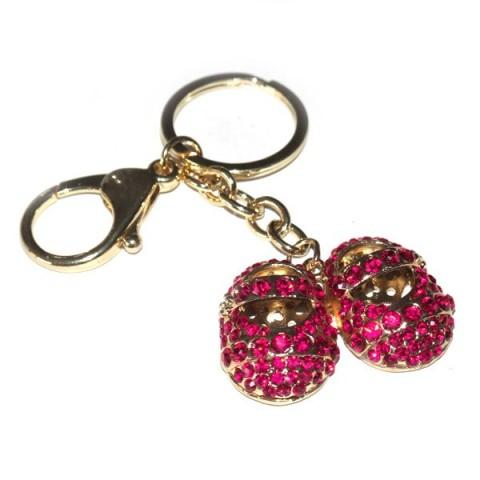 Child Shoes Pink Diamante Keyring