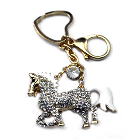 Horse Diamante Keyring