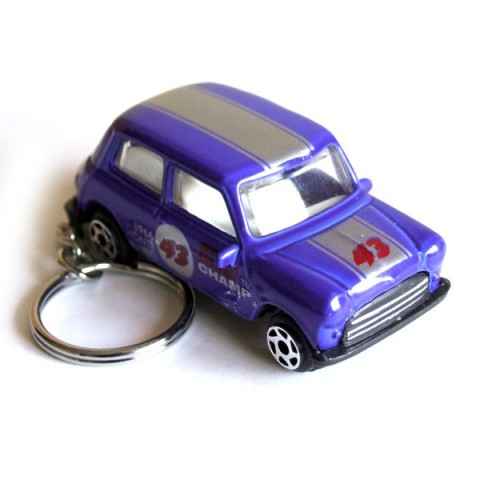 Austin Mini Car Keyring - Blue