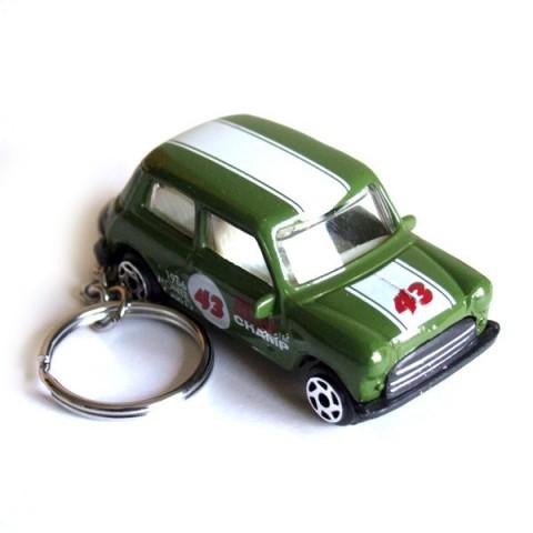 Austin Mini Car Keyring - Green