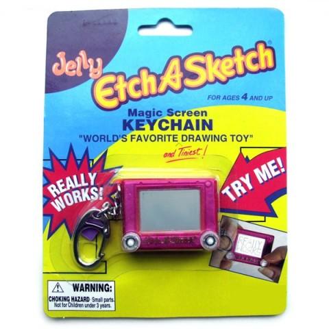 Etch-A-Sketch Keyring