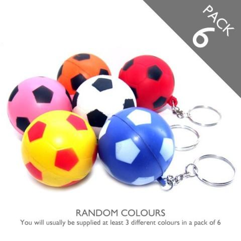 Football Keyrings (multicolour) - PACK 6