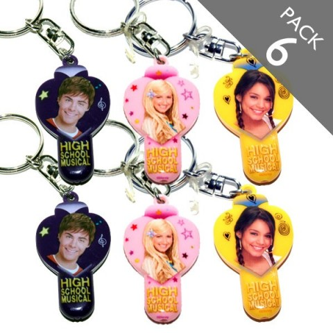 High School Musical Keyring - Torch - Pack of 6
