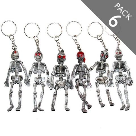 Skeleton Keyrings - Pack of 6
