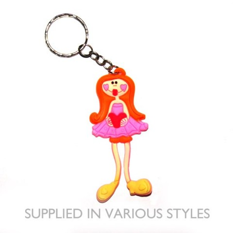 Dancing Girl Keyring