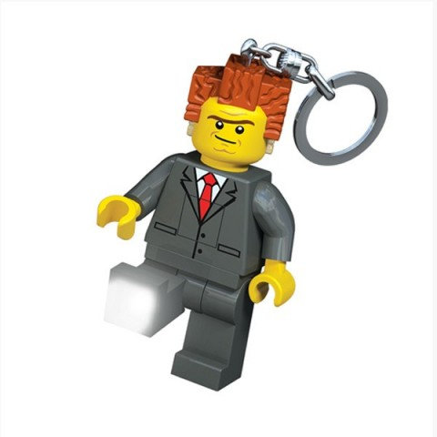 Lego Movie President Business Keyring