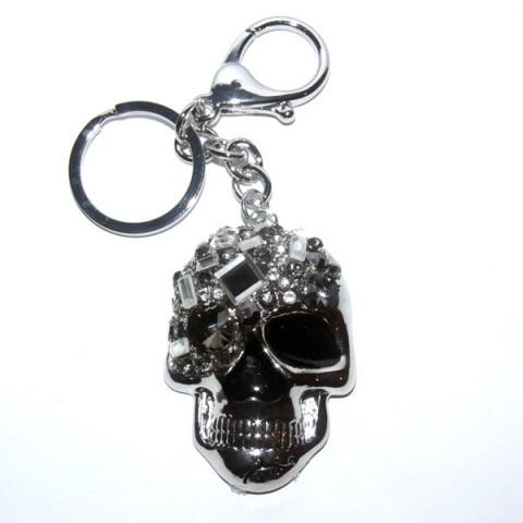 Skull Diamante Keyring