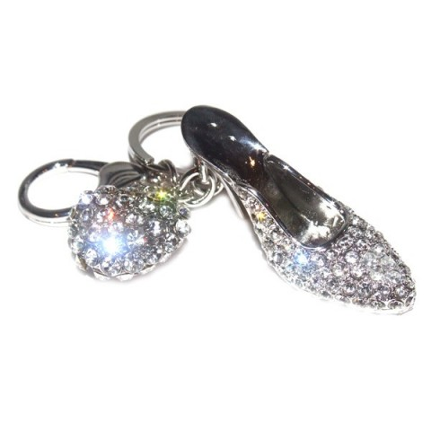 Ladies Shoe Diamante Keyring