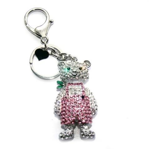 Teddy Diamante Keyring