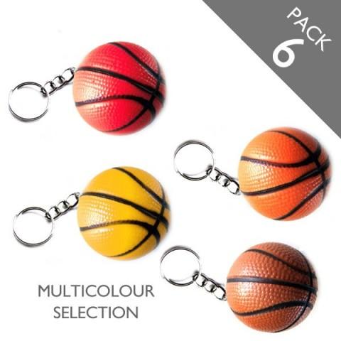 Basketball Keyrings (multicolour) - PACK 6