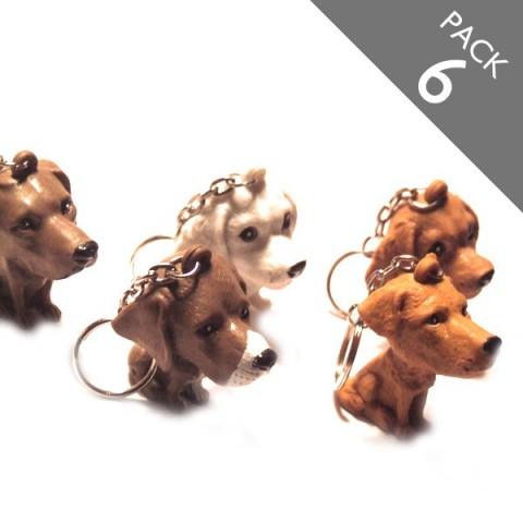 Dog Keyrings - PACK 6