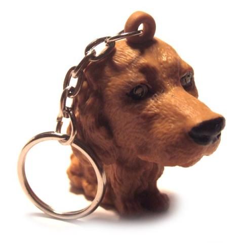 Dog Keyring - Mid Brown