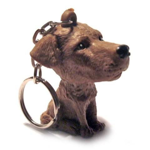 Dog Keyring - Dark Brown