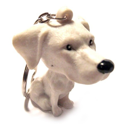 Dog Keyring - White