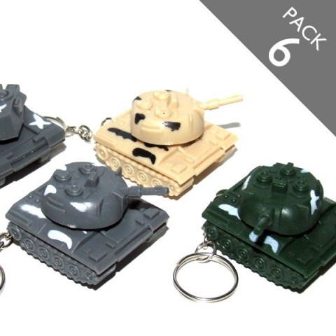 Tank Keyrings - PACK 6
