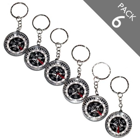 Compass Keyrings - Pack 6