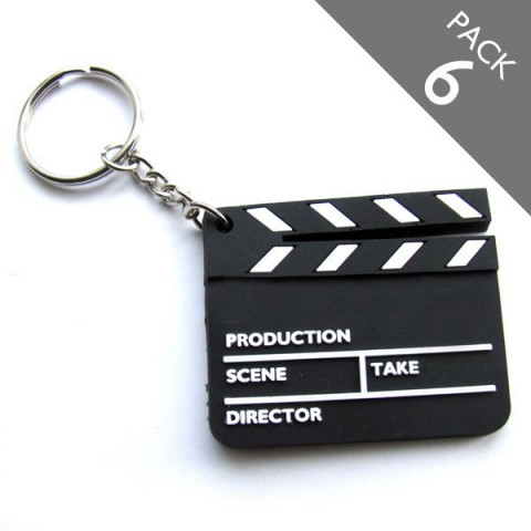 Clapper Board Keyrings - Pack 6