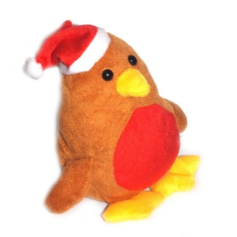 Plush Christmas Robin