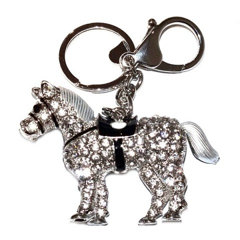 Pony Diamante Keyring