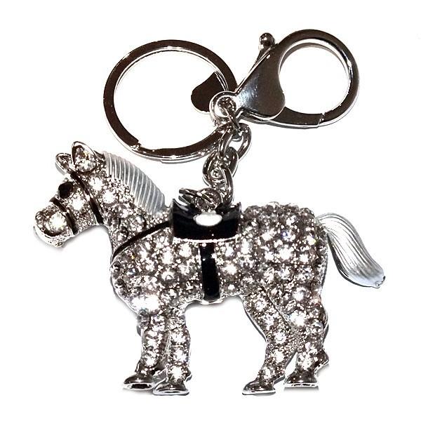 Pony Diamante Keyring