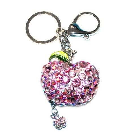 Apple Diamante Keyring