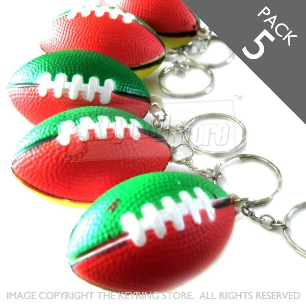 PACK 6 - Rugby ball keyring