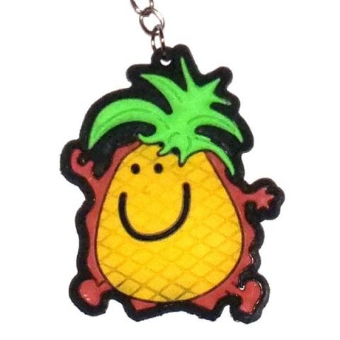 Smiley Pineapple Keyring