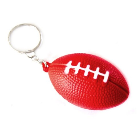 American Football / Rugby Keyring (red)