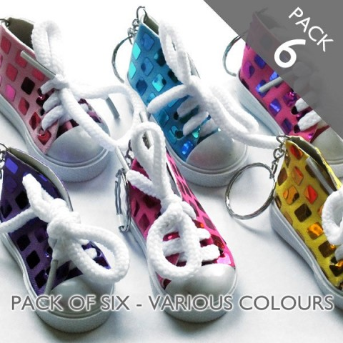 Sports Shoe Trainers Keyring - PACK 6
