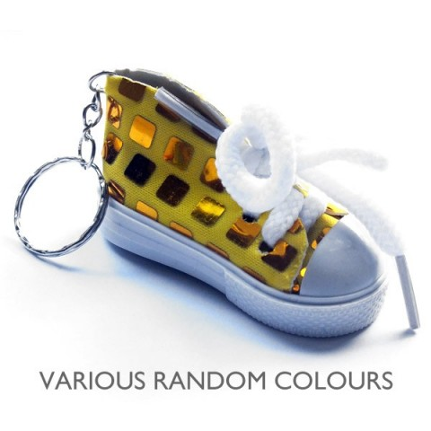 Sports Shoe Trainer Keyring - Bright colours