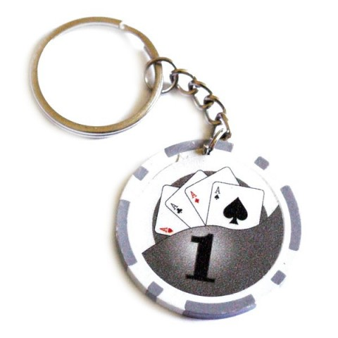 Casino Poker Chip Keyring