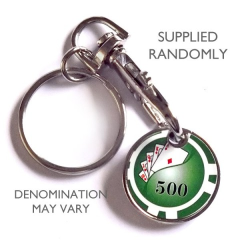 Trolley Coin Keyring - Poker Chip