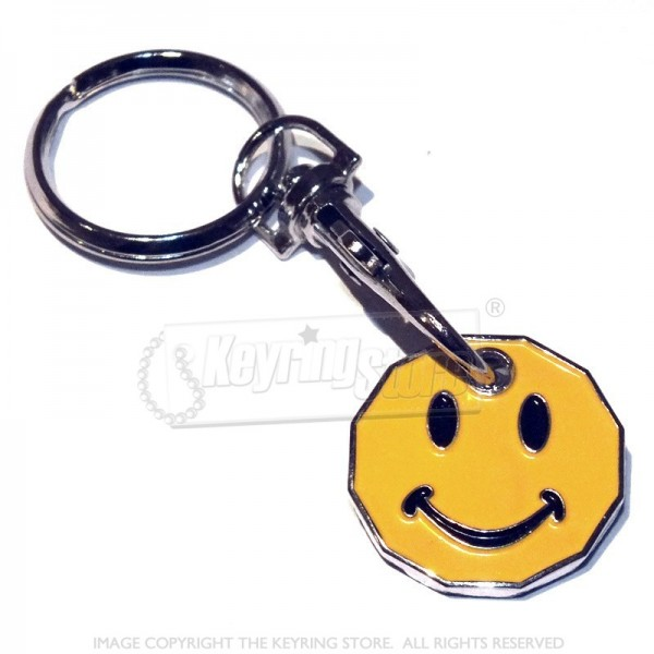 Smiley Trolley Coin Keyring - 12 sided £1