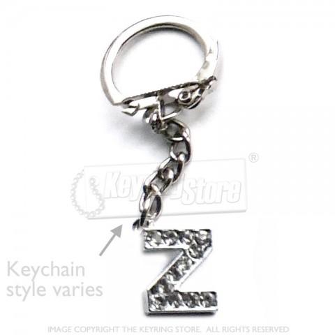 Letter Z Diamante Charm Keyring
