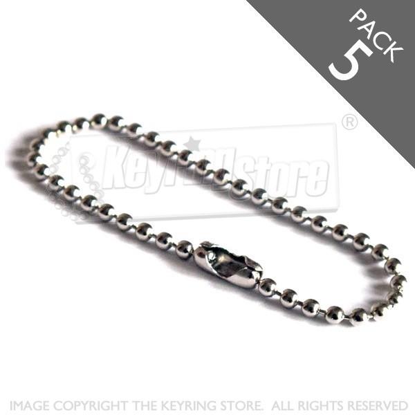 Ball Chain (silver colour) - Pack 5