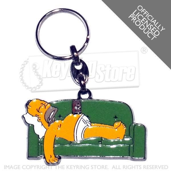 Simpsons Keyring Homer Simpson Sofa Officially Licensed Keyring