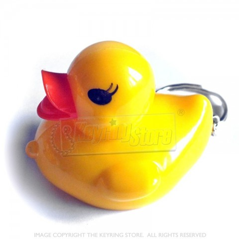 Yellow Duck LED Torch keyring
