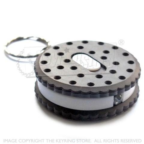 Dark Biscuit Cookie LED Torch keyring