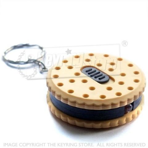 Light Biscuit Cookie LED Torch keyring
