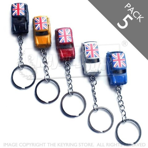 Austin Mini Keyrings- Pack 5