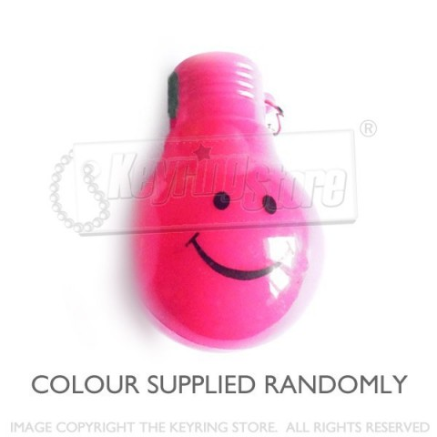Smiley Light bulb LED keyring