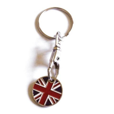 Trolley Coin Keyring - U Jack British Flag