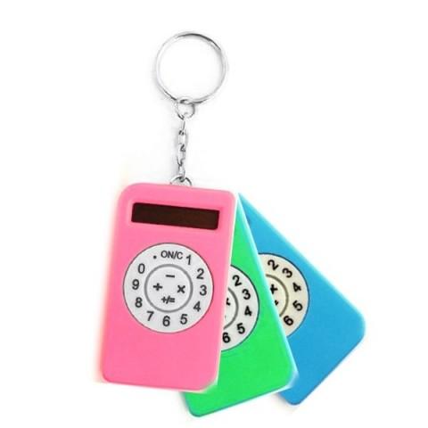Mini calculator keyring - Various colours