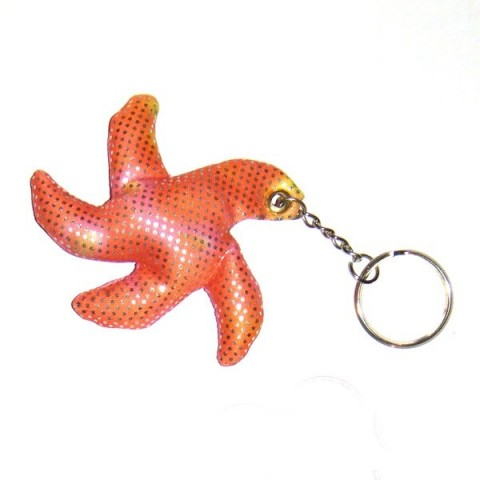Star Fish Sand-filled keyring