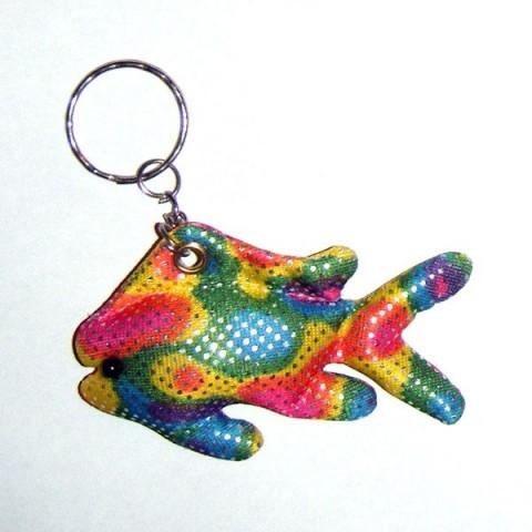 Rainbow Fish keyring (sand filled)