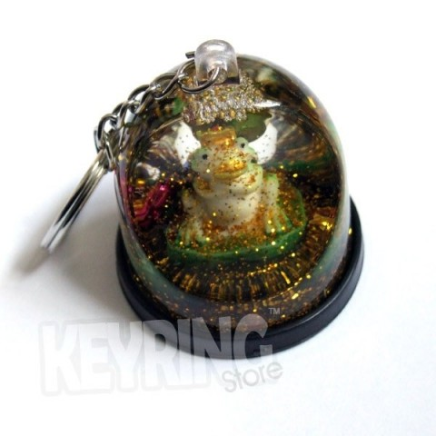 Snow Dome Frog Keyring