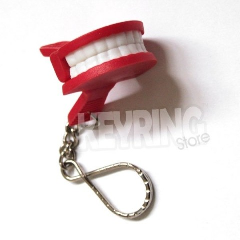 Novelty Mini Teeth Keyring
