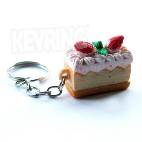 Cream Cake Keyring